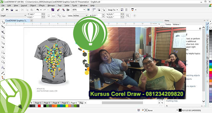 Privat Kursus Corel Draw Surabaya